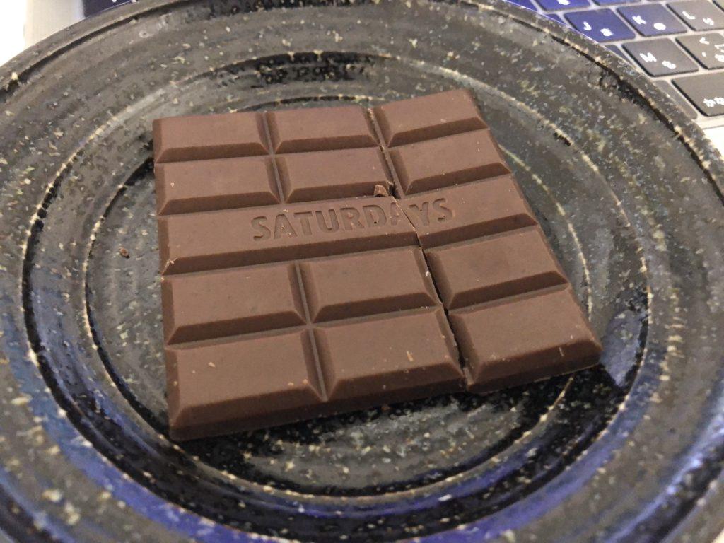 お皿の上の完全栄養チョコレート「andew」